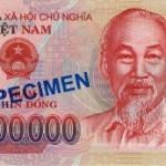 Encore un billet de la monnaie vietnamienne