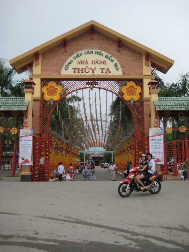 """le parc """"dam sen park"""" au vietnam, hochiminh ville"""