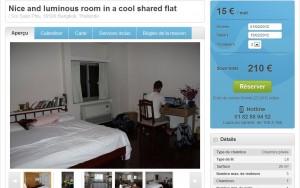 descriptif d'un appartement à louer à bangkok avec Windu