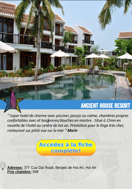fiche hotel vietnam